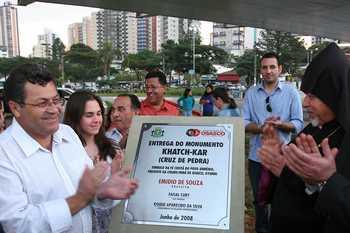 """Prefeitura inaugura monumento """"Cruz de Pedra"""""""