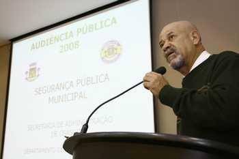 Audiência debate segurança pública municipal