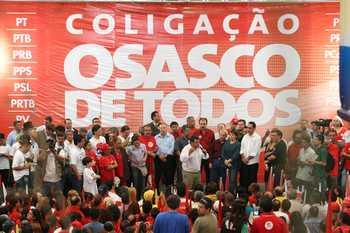 """União – 13 partidos se aliam para a candidatura do prefeito Emidio de Souza à reeleição. """"Com todo o respeito que tenho aos demais partidos, temos os melhores nomes para vereador"""