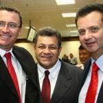 Prefeito de Cajamar, Daniel Fonseca; prefeito de Osasco, Emidio de Souza e o prefeito de São Paulo, Gilberto Kassab